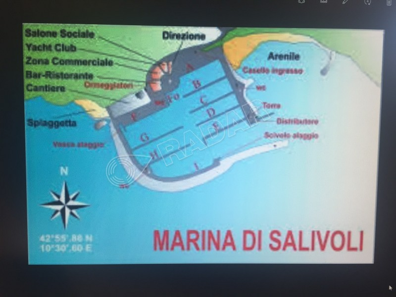 SALIVOLI  Posto Barca Marina di Salivoli di mt. 11