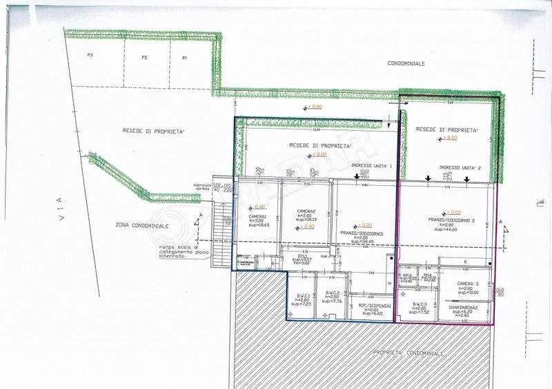 Castiglioncello    Wohnungen mit Garten und Parkplatz 50 Meter vom Meer entfernt